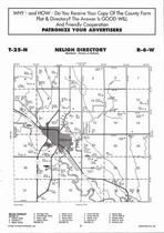 Neligh Township, Hall Creek, Belmer Creek, Directory Map, Antelope County 2006